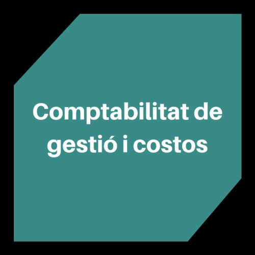 Comptabilitat de gestió i costos