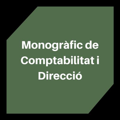 Monogràfic de Comptabilitat i Direcció
