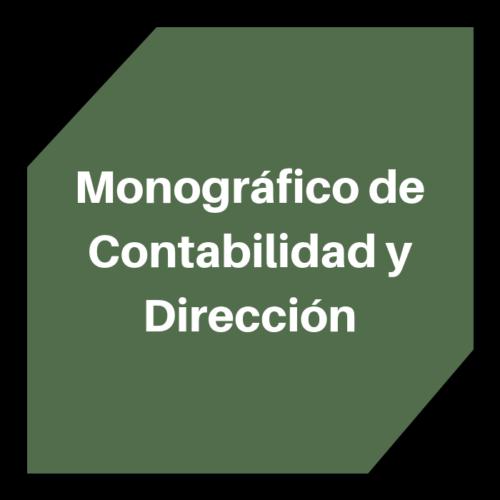 Monográfico de Contabilidad y Dirección